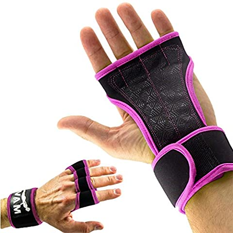 Mava Sports Workout Gloves with Wrist Wraps Support for Weightlifting, Gym Exercise, Weight Training, WOD – Silicone Grip Strengthener & Palm Protection