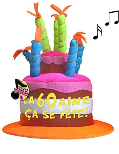 Chapeau Musical 60 ans - Taille Unique
