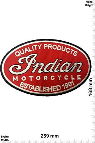 Patch - Indian Motorcycle - Established 1901 - Quality Products - 25 cm - Big - Bigpatch - Motorsport - Motorsport - Indian - Aufnäher - zum aufbügeln - Iron On