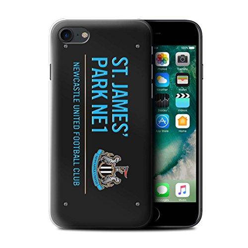 Offiziell Newcastle United FC Hülle / Case für Apple iPhone 7 / Schwarz/Blau Muster / St James Park Zeichen Kollektion Schwarz/Blau