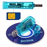ODETOJOY USB Handy Standard SIM Kartenleser Copy Cloner Writer SMS Backup GSM/CDMA + CD