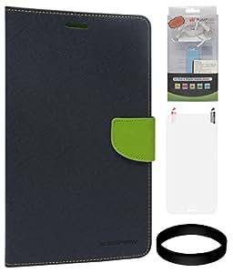 DMG Mercury Goospery Wallet Case for Samsung Galaxy S Duos 2 S7582 (Pebble Blue-Green) + 2200 mAh PowerBank + Matte Screen