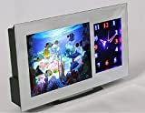 PREMIUM Hochwertige Aquariumleuchte mit Uhr (analog) 3D Effekte - LED Aquariumlampe Dekolampe...