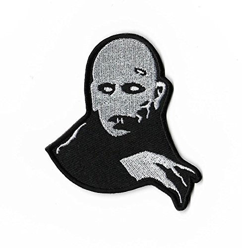 Zählen orlock Patch Nähen oder Bügeln bestickt auf Badge Aufnäher Horror Film Souvenir Vampir Monster Nosferatu Dracula Kostüm ()