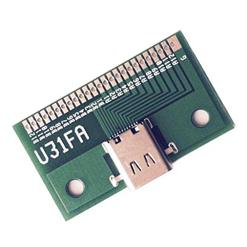 F Fityle 24 Pin USB3.1 Typ C Stecker Zu Buchse Adapter Konverter Modul Test Board 20V/5A,