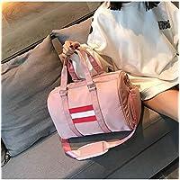 Hombro de Nylon Bolsa de Viaje Ocio Deporte Bolso con Zapatos de zócalo (Color Rosa),ChenYanDong (Color : Pink)