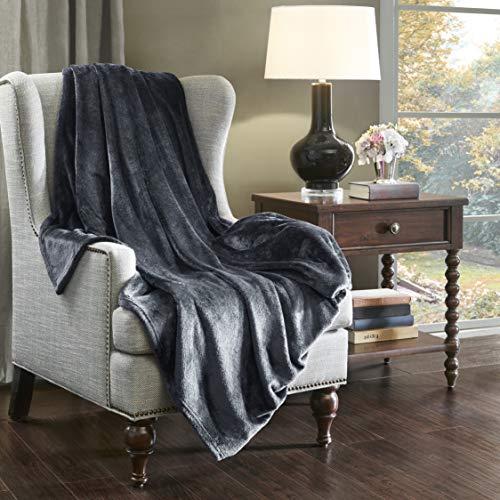 SCM Kuscheldecke XL Charcoal Wohndecke 280GSM Tagesdecke Decke Flauschig Weich und Angenehm Warm Überwurf Sofadecke mit Premium Cashmere Feeling, 150x200cm