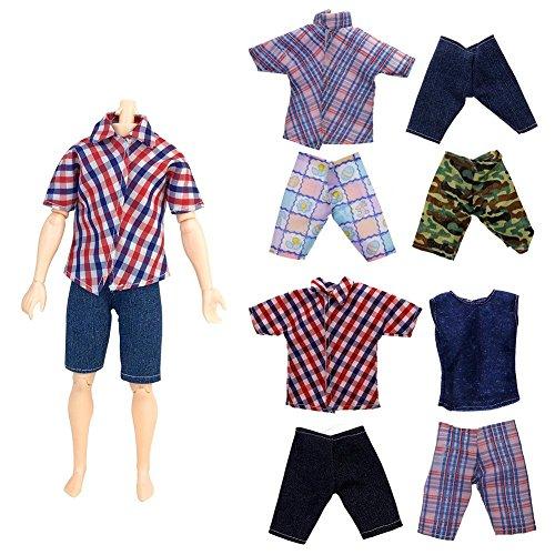 zhuotop 100handgefertigt T Shirt Pants Kleidung für 28cm Barbie Boyfriend Puppe (Barbie Danke)