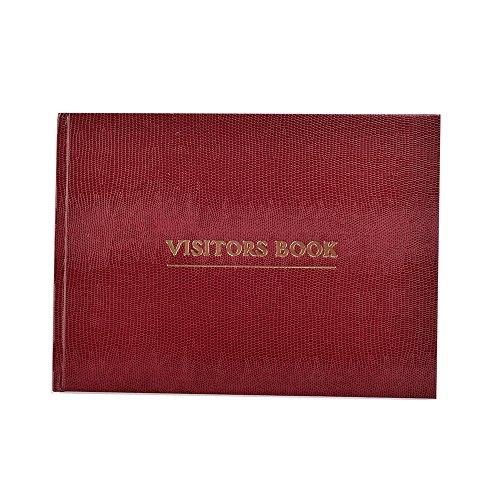 Arpan Deluxe Visitor Book, libro degli ospiti per aziende/hotel/pensioni/reception, colore: bordeaux (lingua italiana non garantita)