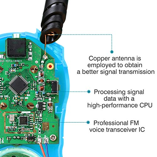 Zoom IMG-3 floureon ricetrasmittente walkie talkies bambini
