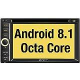 PUMPKIN Android 8.1 Autoradio Naviceiver mit Navi Unterstützt Bluetooth DAB+ USB CD DVD Android Auto WLAN 4G MicroSD Doppel Din 6,2 Zoll Bildschirm Universal