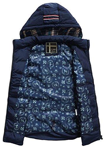 JOOBOX Jugendlichen Herren Weste Daunenweste Steppweste Abnehmbare Kapuze Ärmellose Weste Jacke mit Stehkragen Verdicken Auswählbare Farben XL-3XL Dunkelblau