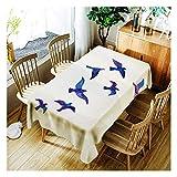 ZHAOXIANGXIANG Elegante Minimalistische Waschbar Tabelle Mat Künstlerischen Kreativen Vogel Gruppe Pattern Home Decor Tischdecke,90Cm×130Cm