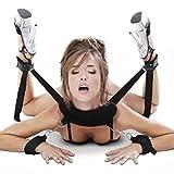 Fetisch Bett Bondage Zurückhaltung Soft Kissen Ankle Cuffs Hand Manschetten für Paare Love Games (schwarz)