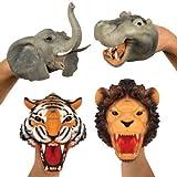 Strechable Safari Hand Puppets (Set Of 4)