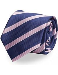 Krawatte von Fabio Farini gestreift in blau rosa
