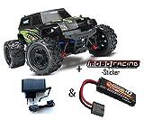 Traxxas 76054-1 LaTrax Teton Monster 1:18 4WD RTR + 230V Lader + Zusatzakku GRÜN