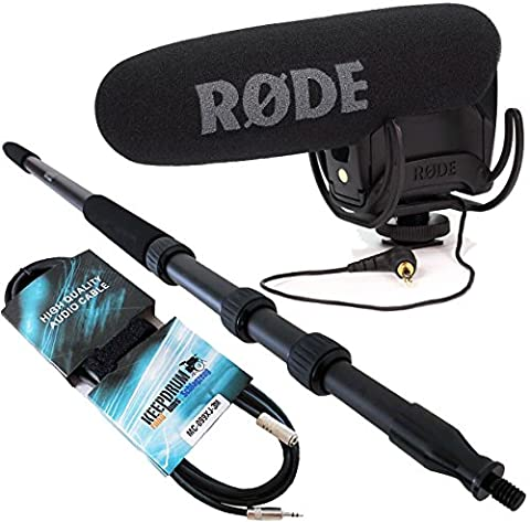 Rode Videomic PRO Rycote + KEEPDRUM 3m Tonangel + Verlängerungs-Kabel 3m