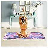 YYFRB Serviette de Yoga Microfibre Yoga Vert Serviette antidérapante Yoga Tapis de Sport Serviette Peut être plié 63cm × 183cm Tapis de Yoga (Color : C)