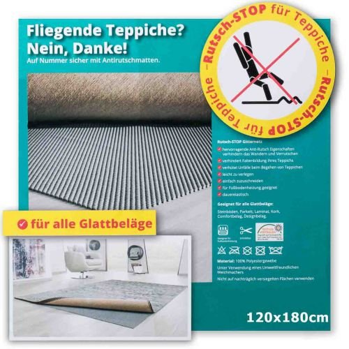 Rutsch-Stop Gitternetz 120x180cm - Antirutschmatte Teppichstopper Teppichunterleger Teppichunterlage Antirutschmatte