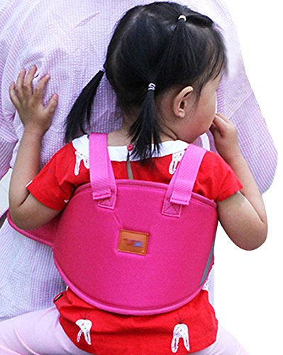 LAHAUTE Kinderlauf- und Schutzgurt Kindersitze für Motorrad Elektro-Auto Fahrrad rosa