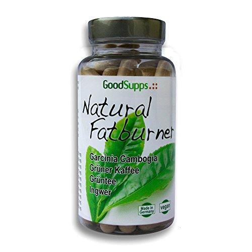 Natural Fatburner - Garcinia Cambogia, Grüner Kaffee, Grüner Tee, Ingwer und Pfeffer Extrakt - 60 vegane Kapseln (Monatsvorrat) - 100% natürliche und pflanzliche Inhaltsstoffe - MADE IN GERMANY - VEGAN - Unterstützt die Fettverbrennung