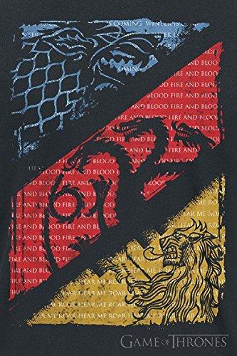 Game Of Thrones Stark, Targaryen, Lannister Sigils T-Shirt schwarz Schwarz