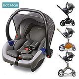 Hot Mom Autoschale Group 0+ entspricht EU standard ECE44, kompatible mit hot mom Kinderwagen modell F22