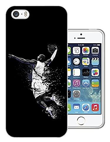003070 - Basketball player slam dunk Design iphone SE / iphone 5 5S Fashion Trend Protecteur Coque Gel Rubber Silicone protection Case Coque