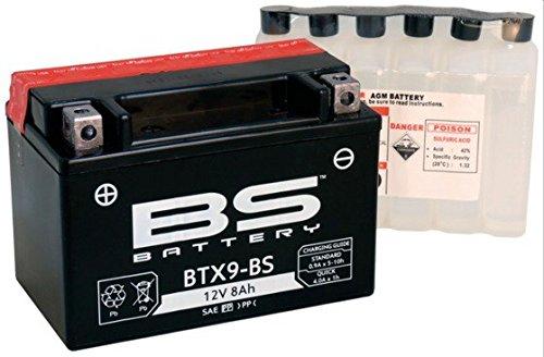 Xfight-Parts Batterie BTX9-BS 12V 8Ah 0,45 Liter DIN 50812 MTF Wartungsfrei 150x106x85mm 5403779 für SYM HD 125 EVO