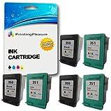 Printing Pleasure 6 XL Druckerpatronen für HP Deskjet D4200 D4245 D4260 D4360 D5360 D5363 D4368, OfficeJet J5700 J5730 J5780 J5783 J5785 J5790 J6400 J6410 J6413 J6415 J6450 J6480 J7500, Photosmart C4200 C4205 C4210 C4240 C4250 C4270 C4272 C4275 C4280 C4283 C4285 C4340 C4342 C4343 C4344 C4345 C4348 C4380 C4383 C4390 C4440 C4450 C4472 C4473 C4480 C4485 C4580 C4585 C4599 C5200 C5240 C5250 C5270 C5273 C5275 C5280 C5290 C5293 | kompatibel zu HP 350XL (CB336EE) & HP 351XL (CB338EE)