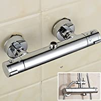 Moderno rotondo bagno rubinetto miscelatore termostatico per doccia da parete