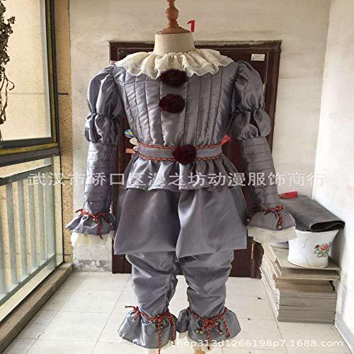 wojiaxiaopu Clown Back Soul Cosplay Halloween Kostüm Clown Kostüm Silber XXXL -