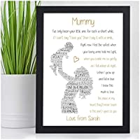 NANNY MUMMY AUNTIE PERSONALISED Poem Gifts Birthday Christmas Xmas Keepsake Presents - Birthday Christmas Mothers Day Gifts - A5 A4 Framed Prints or 18mm Wooden Blocks - Mum Mummy Nanny ANY NAME