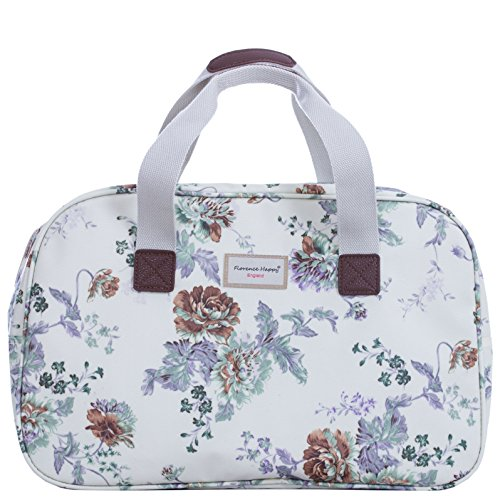 Holiday Weekender, Wachstuch-Handtasche Eule, gestreift Hampstead Flowers