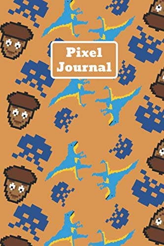 Preisvergleich Produktbild Pixel Journal: Composition Notebook,  Pixel Theme,  Lined Journal (120 Pages 6 x 9 )