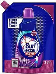 Surf Excel Matic Liquid Detergent - 2 Litre Pouch (Front Load)