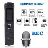 leshp Registratore vocale digitale, 8GB Registratore digitale registratore vocale audio voice recorder dispositivo di acquisizione con display LCD MP3Player Speaker di riconoscimento vocale per le classi incontrare parlare Improvisation Strumenti cantare Interviste