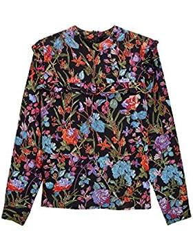 next Mujer Blusa Detalle Volante Estampado Flores Regular Ropa Top