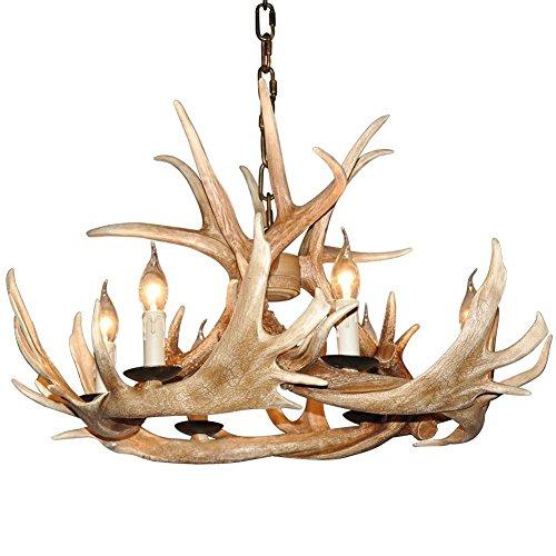 Shengdi corno di cervo 6-Light ferro industriale vintage lampadario a soffitto della lampada della lampada per Ristorante Balcone camera da letto senza paralume 1005C-6