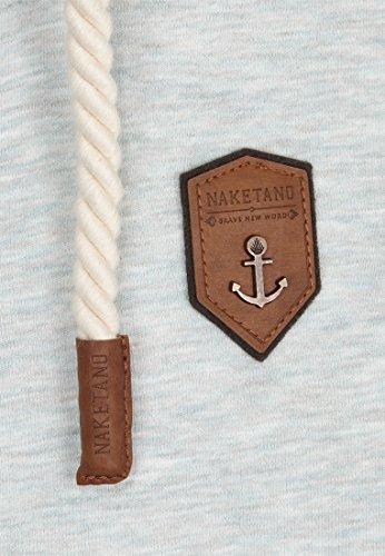 Naketano Male Zipped Jacket Schwarzkopf IV Stone Grey Melange