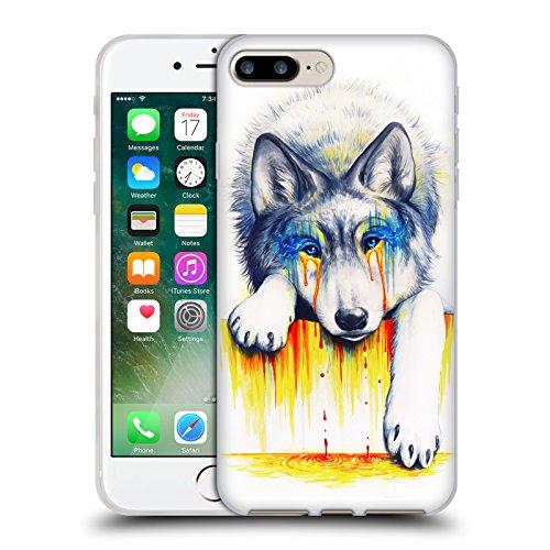 Ufficiale Jonas jojoesart Jödicke Lupo Galassia Animali Selvatici Cover Morbida In Gel Per Apple iPhone 5 / 5s / SE Affogare Nelle Lacrime