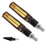2 LED Blinker - Vorn & Hinten - mit E-Zeichen - für Motorrad Roller Scooter Quad Moped Mofa • X-LEDIND-62 •