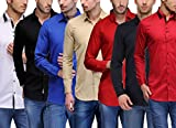 Feed Up Men's Combo of 7 Cotton Shirts