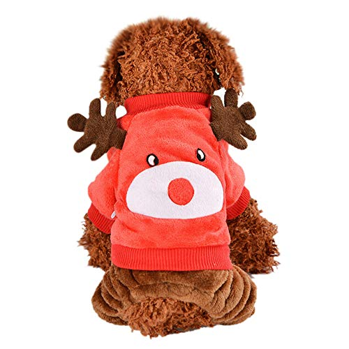 Dragon868 Christmas Dog Puppy Kleidung kleine Welpen-Soft-Pet Mantel
