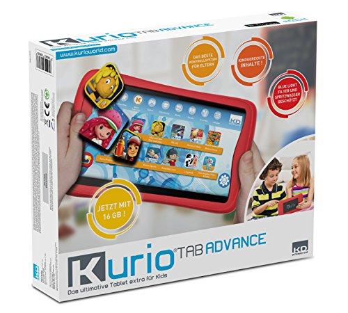 Kurio DECIIC17150 - Das sichere Tablet für Kinder 7'' Multitouch Bildschirm, Front und Rückkamera, 16 GB Speicher, 1GB Ram
