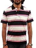 Pink & Navy Blue Stripe Polo - L