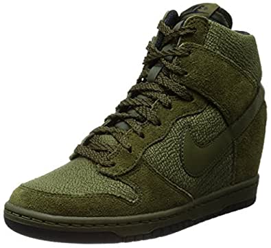 Nike Dunk Sky Hi Essential, Baskets mode femme - Noir (Rough Green/Rough Green-Black), 36.5 EU