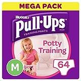 Huggies Pull-Ups Potty Training Pants for Girls, Medium (64 Pants)