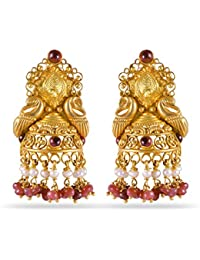 Joyalukkas Veda Collection 22K Oxidized Gold Earrings for Women